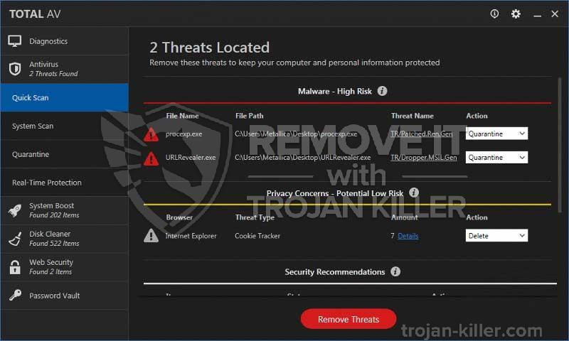 remove TotalAV