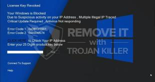 """License Key Revoked"" pop-up scam (removal solution)."