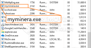 Myminera.exe – Virus Files Removal