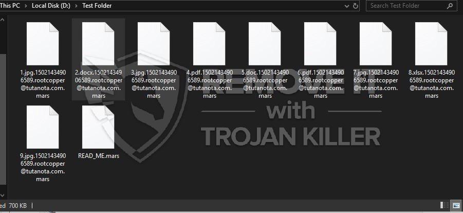 .Virus MARS ransomware