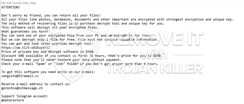 .BESO virus ransomware
