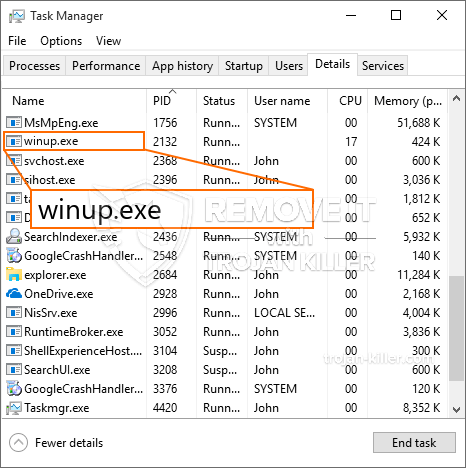 What is Winup.exe?