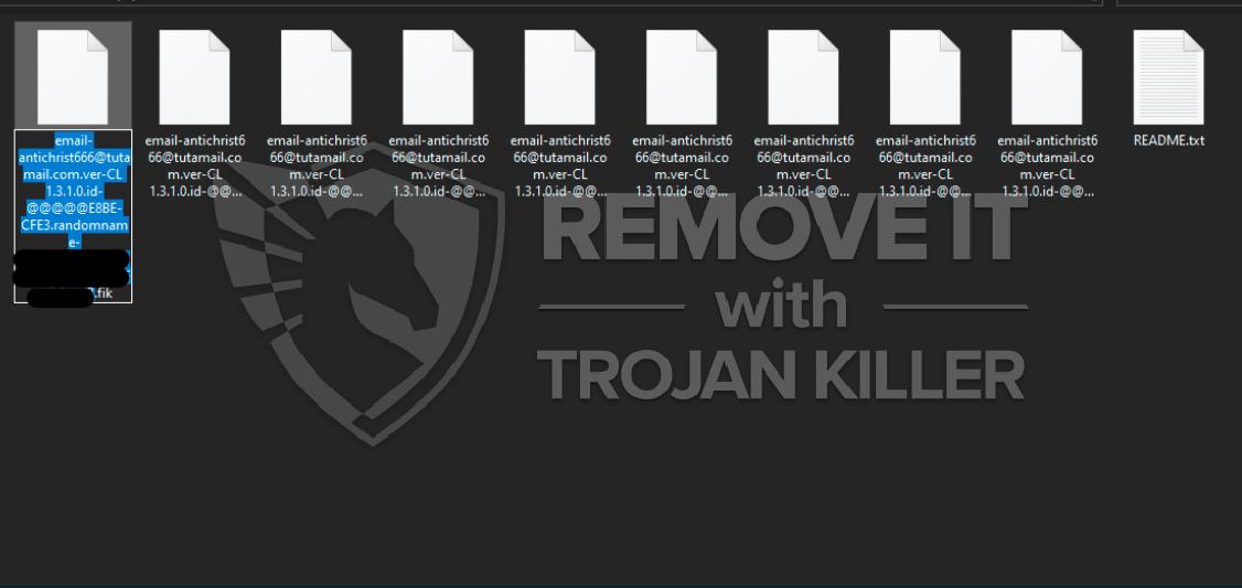CRYAKL (antichrist666@tutamail.com) ransomware virus