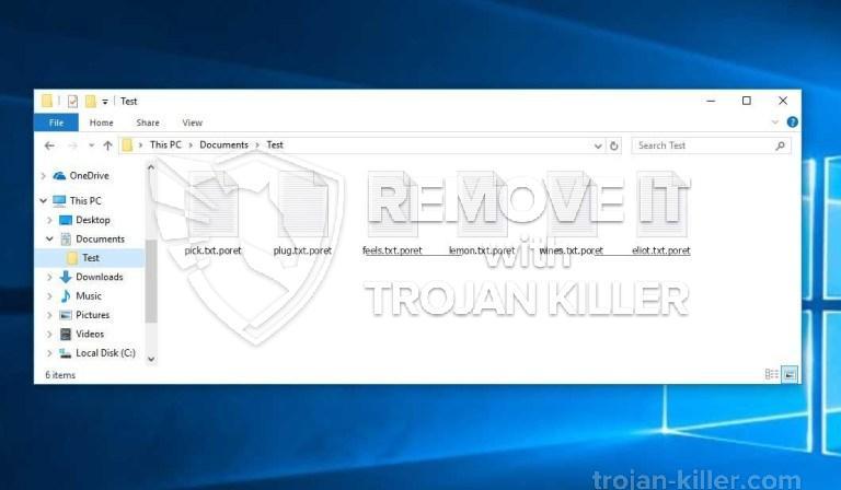 .Virus PORET ransomware