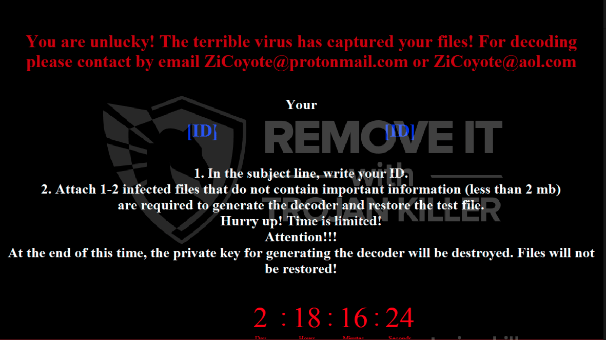ZiCoyote (MrDec) ransomware-virus