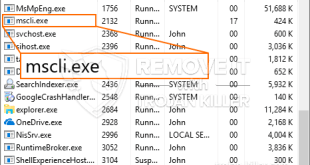 Delete MSCLI.exe CPU Miner