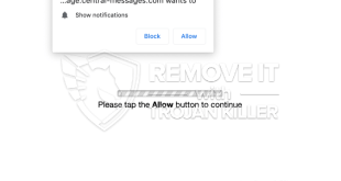 Como remover Central-messages.com Mostrar notificações