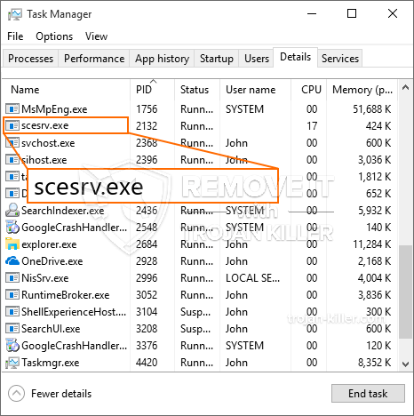 What is Scesrv.exe?