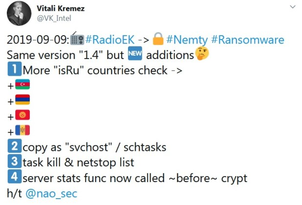 Nemty ransomware continues to develop