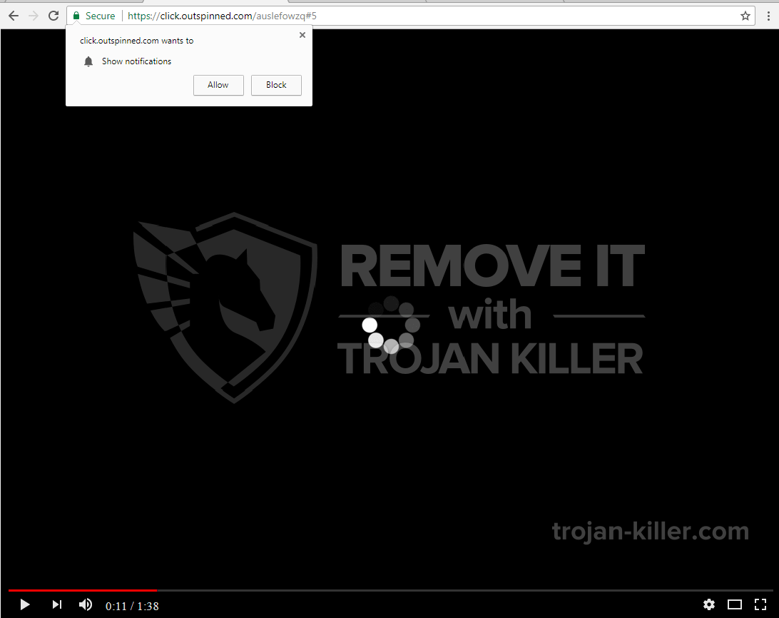 Outspinned.com virus