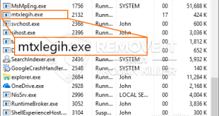Virus Mtxlegih.exe Trojan coming back