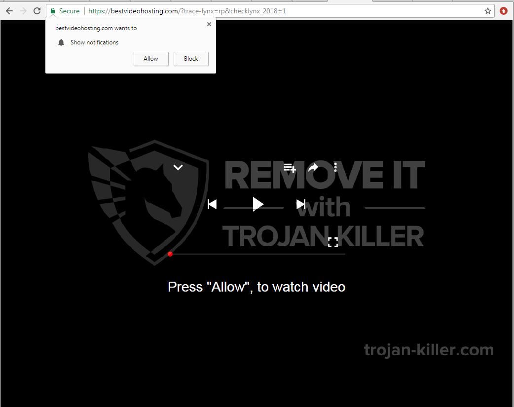 Bestvideohosting.com virus