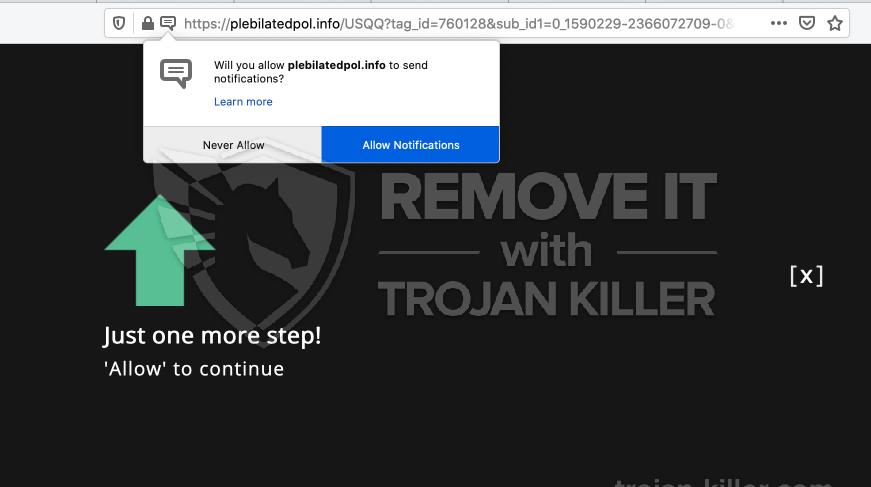 Plebilatedpol.info virus