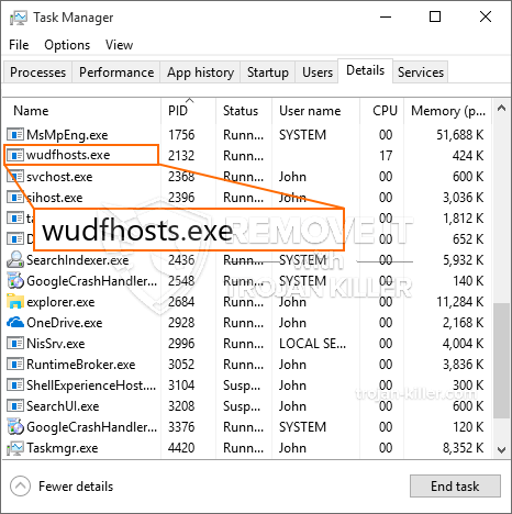 What is Wudfhosts.exe?