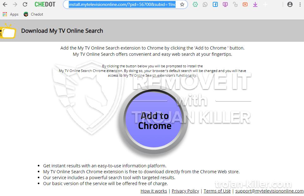 Mytelevisiononline.com virus