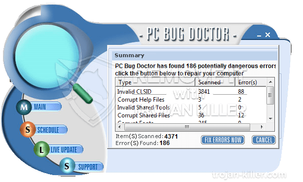 remover PC Bug Doctor