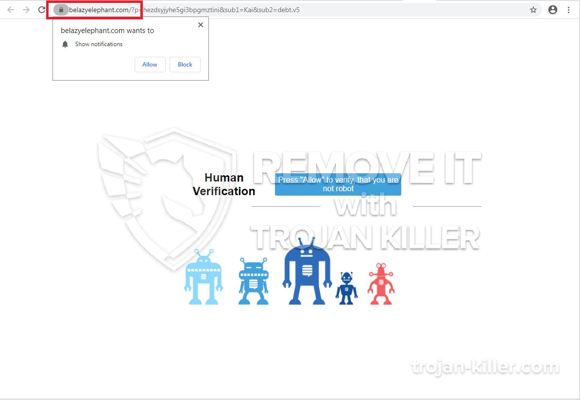 Belazyelephant.com virus