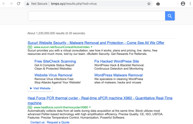 Bmps.xyz Searchgg Custom Search virus