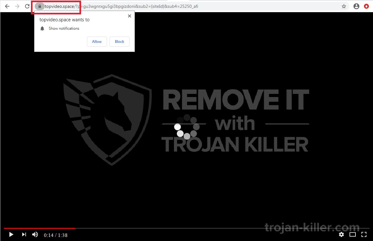 Topvideo.space virus