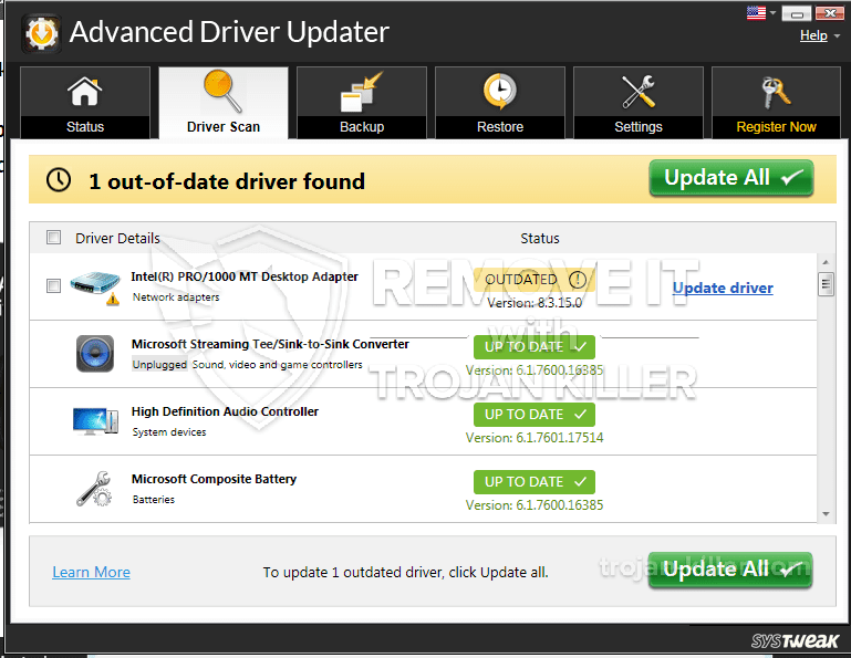 remover Advanced Driver Updater
