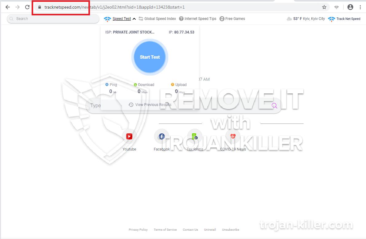 virus tracknetspeed.com
