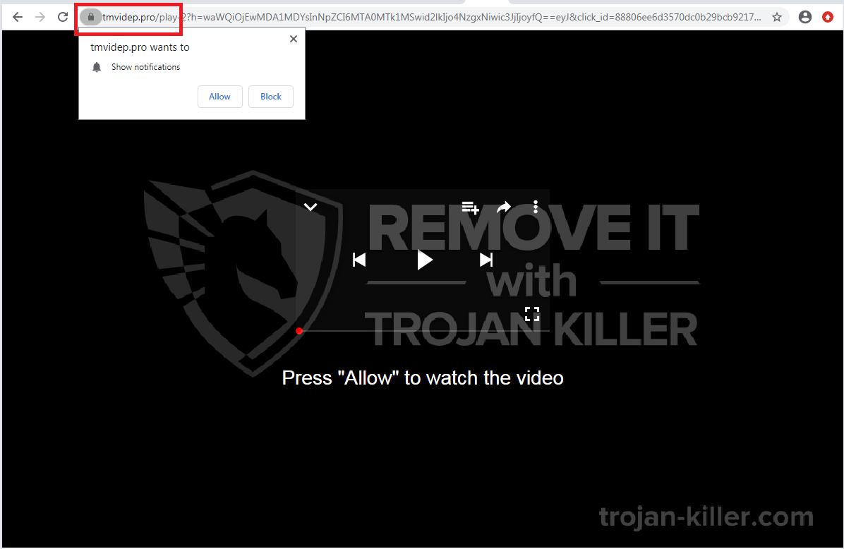 Tmvidep.pro virus