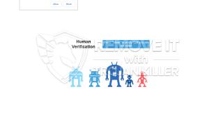 Hoe pop-up van menselijke verificatie te verwijderen?