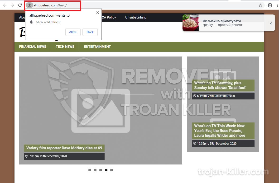 Allhugefeed.com virus