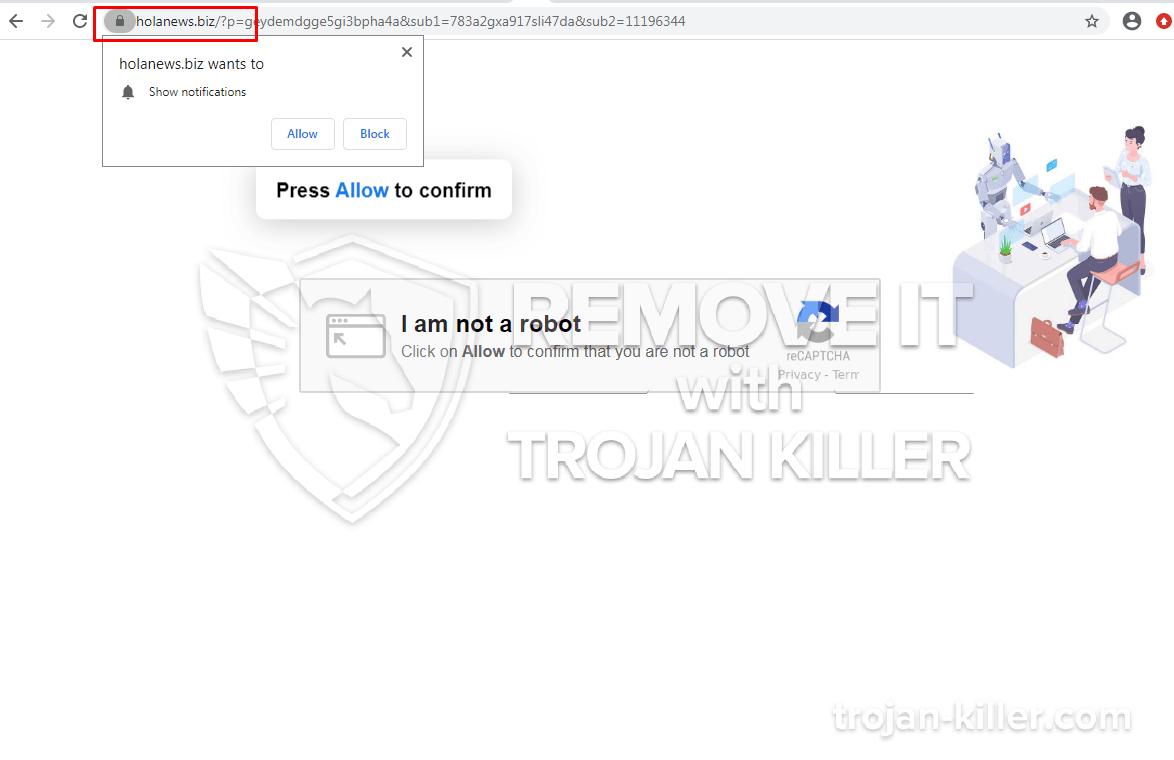 Holanews.biz virus