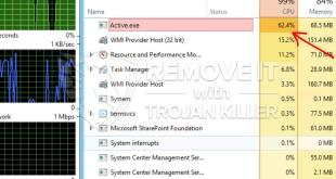 Remover Active.exe Miner Trojan