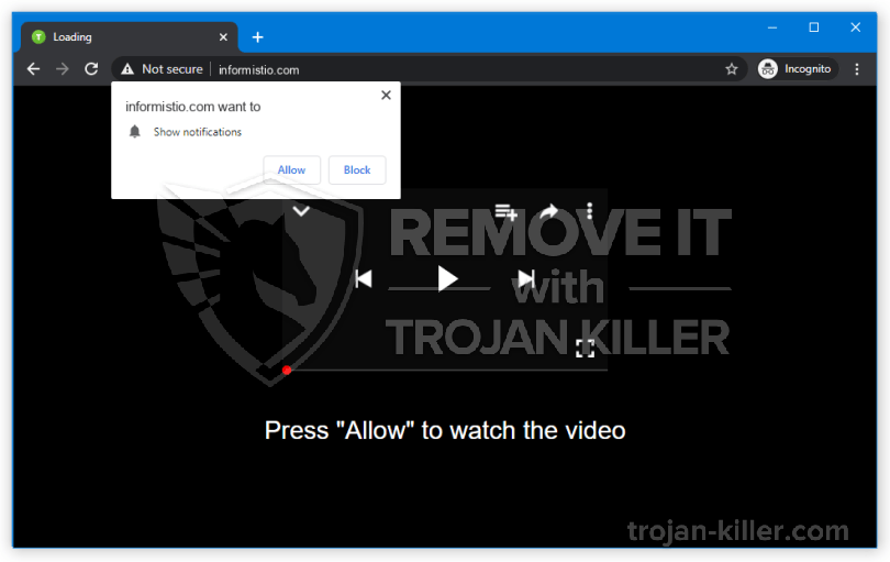Informistio.com virus