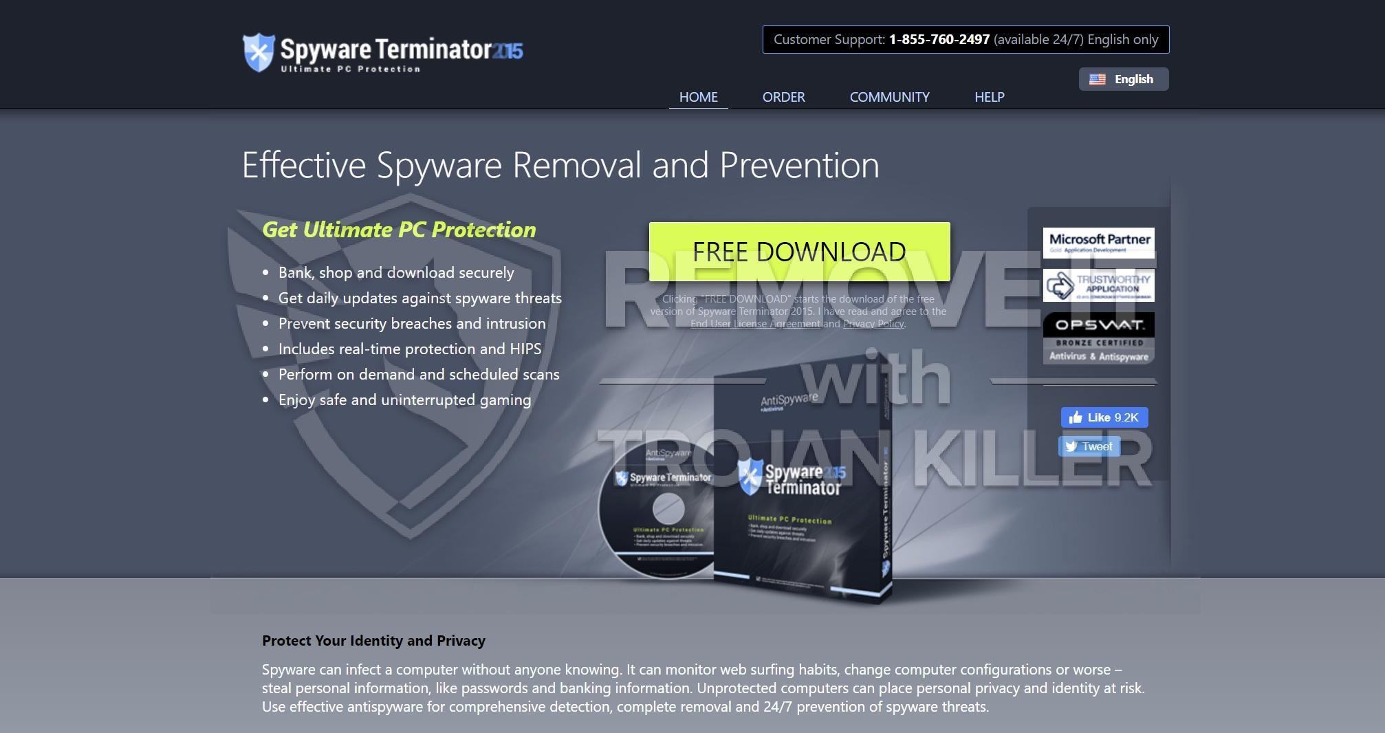 remove Spyware Terminator