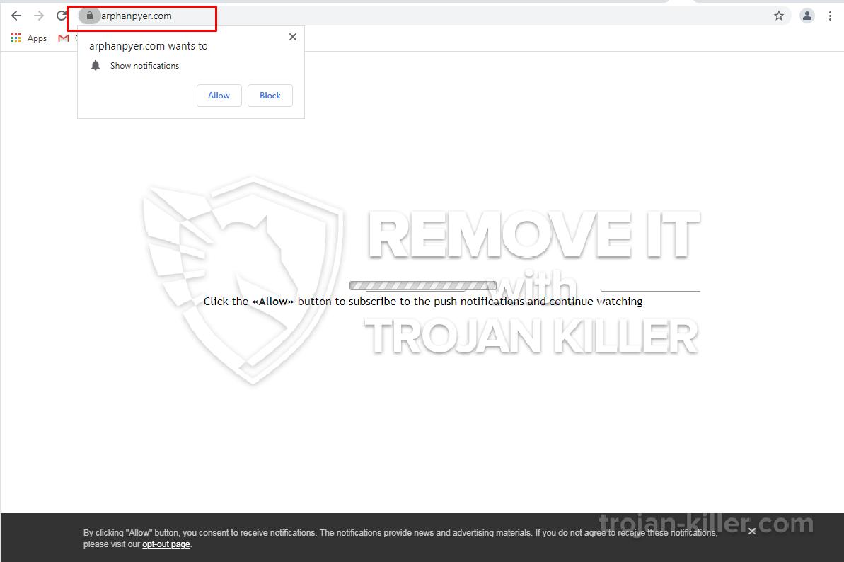 Arphanpyer.com virus