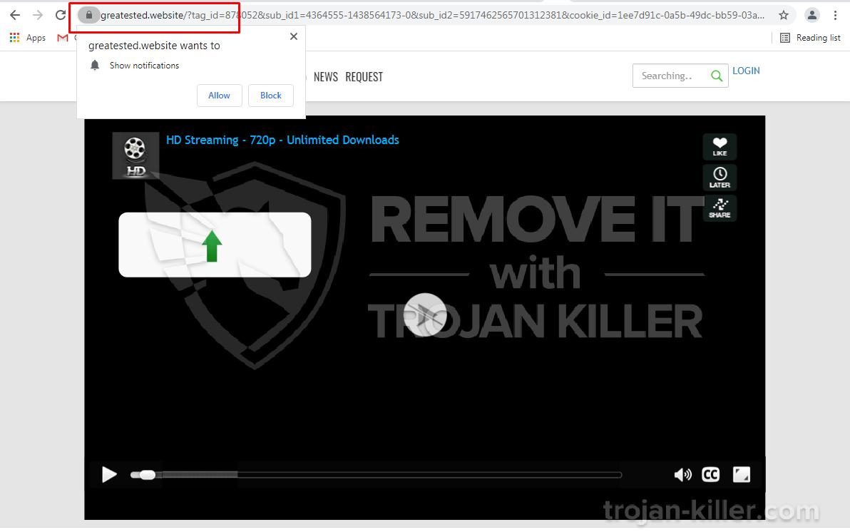 Greatested.website virus