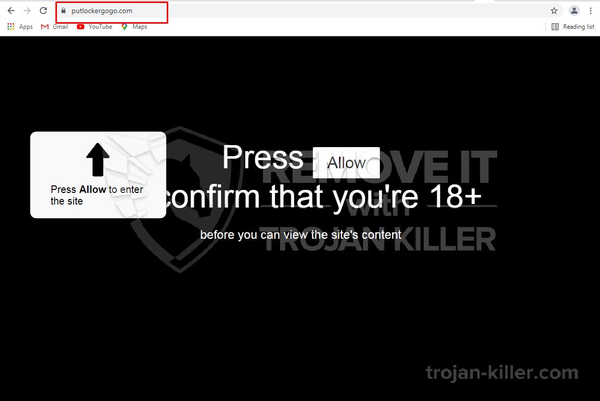 Putlockergogo.com virus