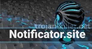 Notificator.site 제거 알림 표시
