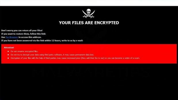 Zeus ransomware note