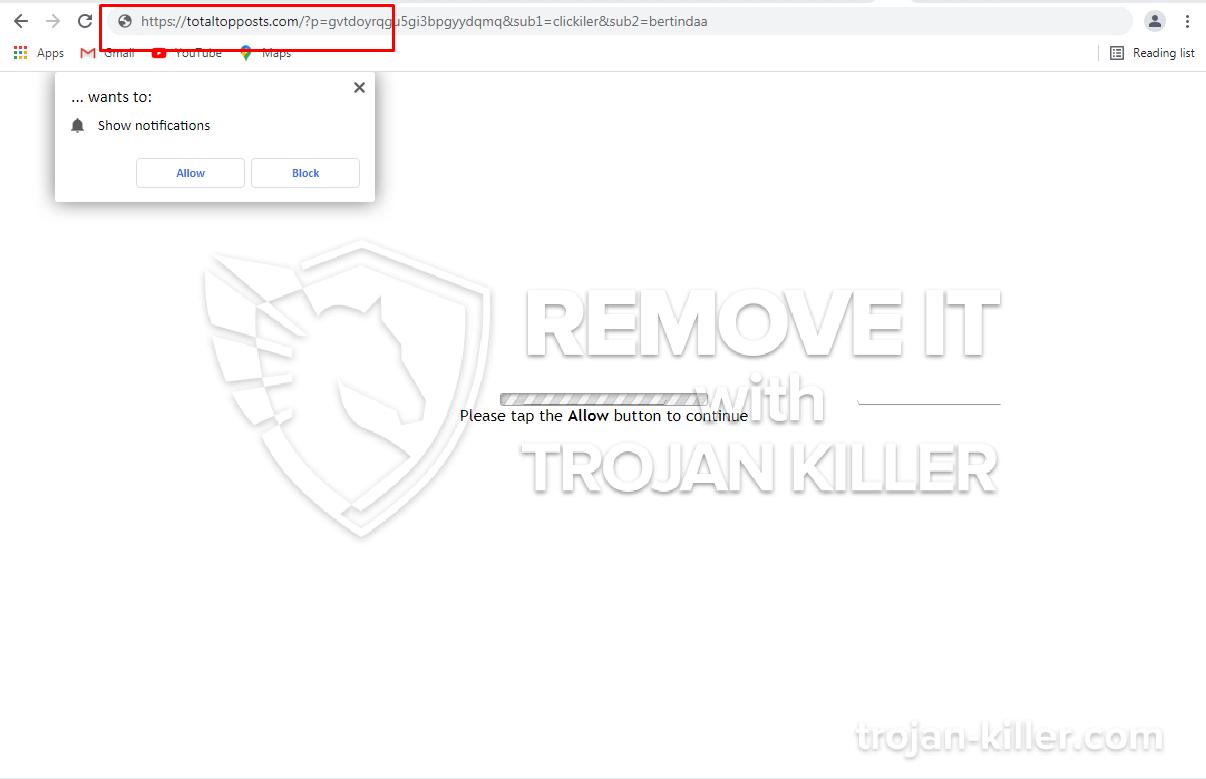 TotalTopPosts.com 바이러스