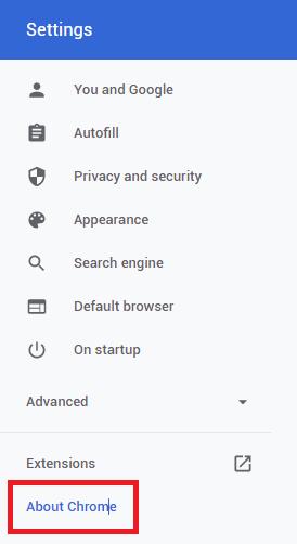 구글 크롬 업데이트