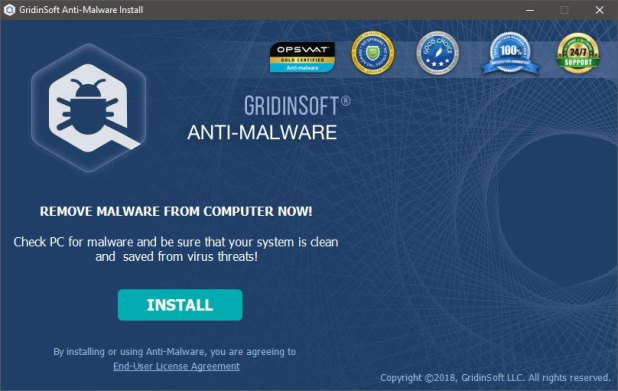 GridinSoft Anti-Malware installeren