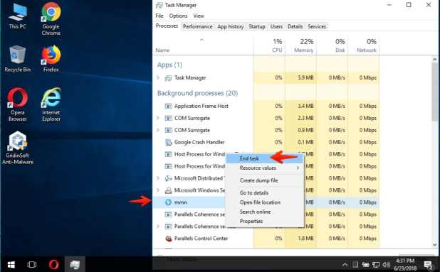 How to end task of specific program in Windows