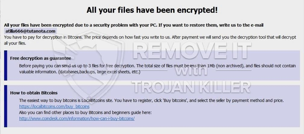Beware leon ransomware how to get rid of leon completely trojan leon virus ccuart Gallery