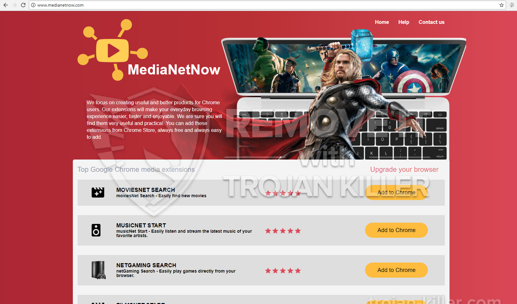 movietube search chrome extension