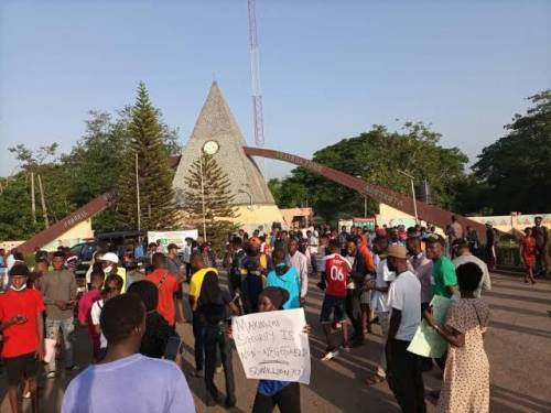 Protest Rocks Top Nigeria's Agriculture University In Ogun Over Abduction of Student
