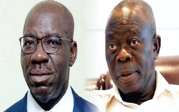 Oshiomhole Renews Battle With Obaseki Over Lawmakers