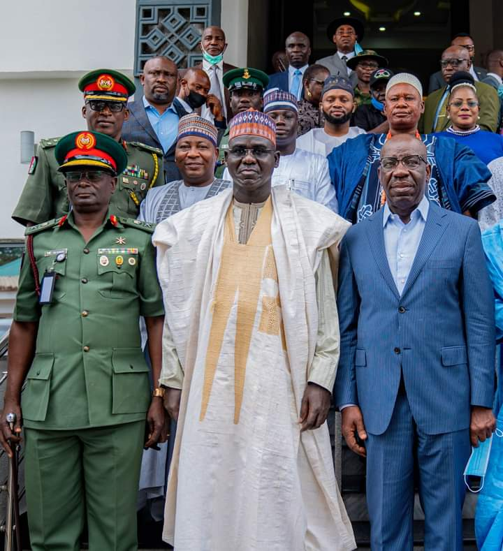 Governor Obaseki Sets Facebook On Fire, Crucified Himself For Praising Gen Buratai For Laying Solid Security Foundation
