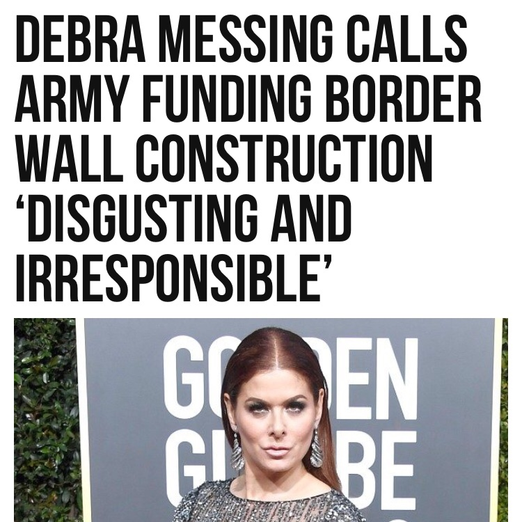 Debra Messing, anti-American Bimbo Actress Prefers Muslims and Immigrants.