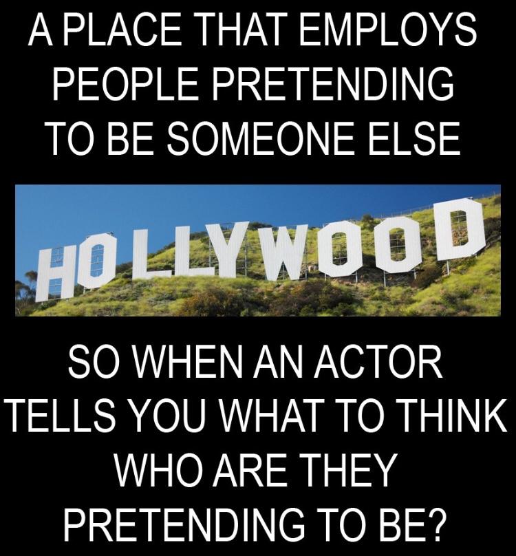 Just Say No to Hollywood idiots.