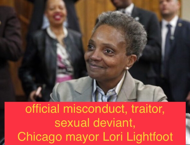 Chicago mayor commits official misconduct and treason against the US to protect criminal alien scum in her city.