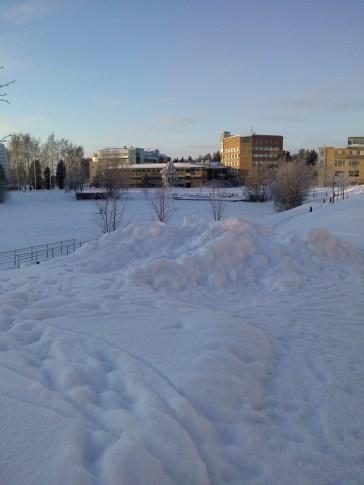 Umea; university; snow; winter